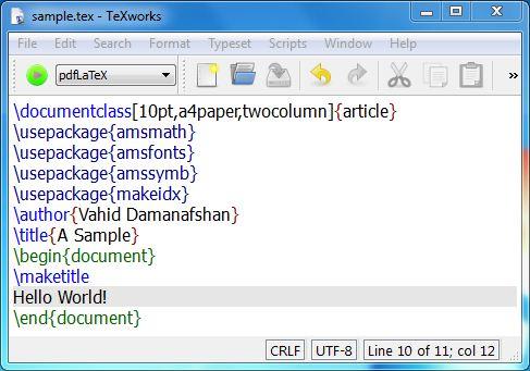 فایل نمونه لاتک